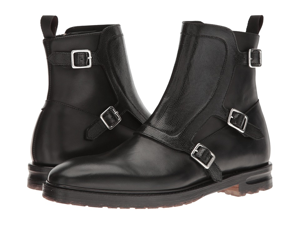 Alexander McQueen - Monk Strap Ankle Boot (Black) Men's Pull-on Boots