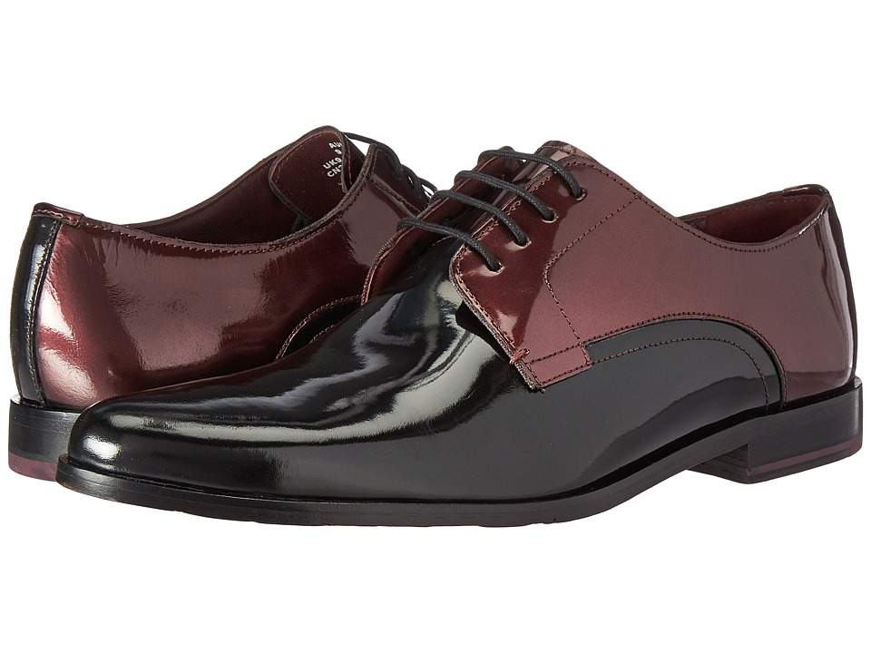 Ted Baker - Aundre (Black/Dark Red Patent) Men's Shoes