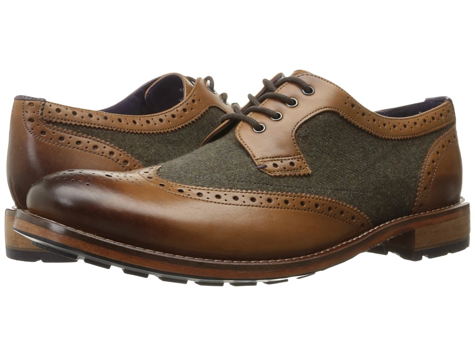 Ted Baker - Cassiuss 4 (Tan/Brown) Men's Lace Up Wing Tip Shoes