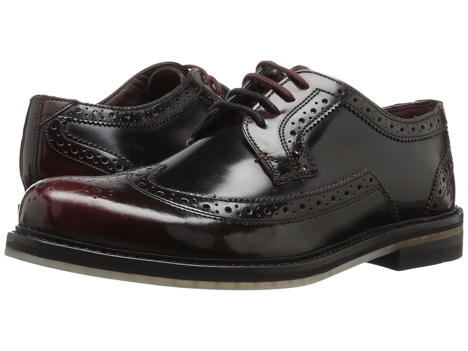 Ted Baker - Ttanum 3 (Dark Red High Shine Leather) Men's Shoes
