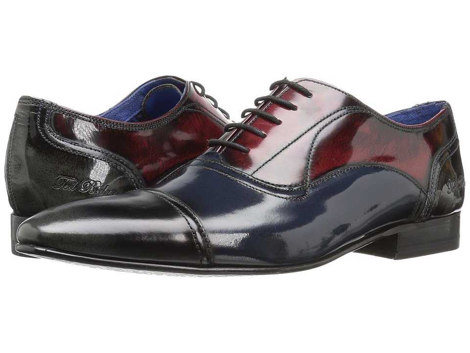 Ted Baker - Umbber (Multi High Shine Leather) Men's Lace Up Cap Toe Shoes