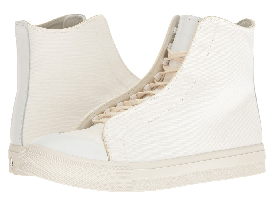 Alexander McQueen - Tonal Applique High Top Sneaker (White) Men's Lace up casual Shoes