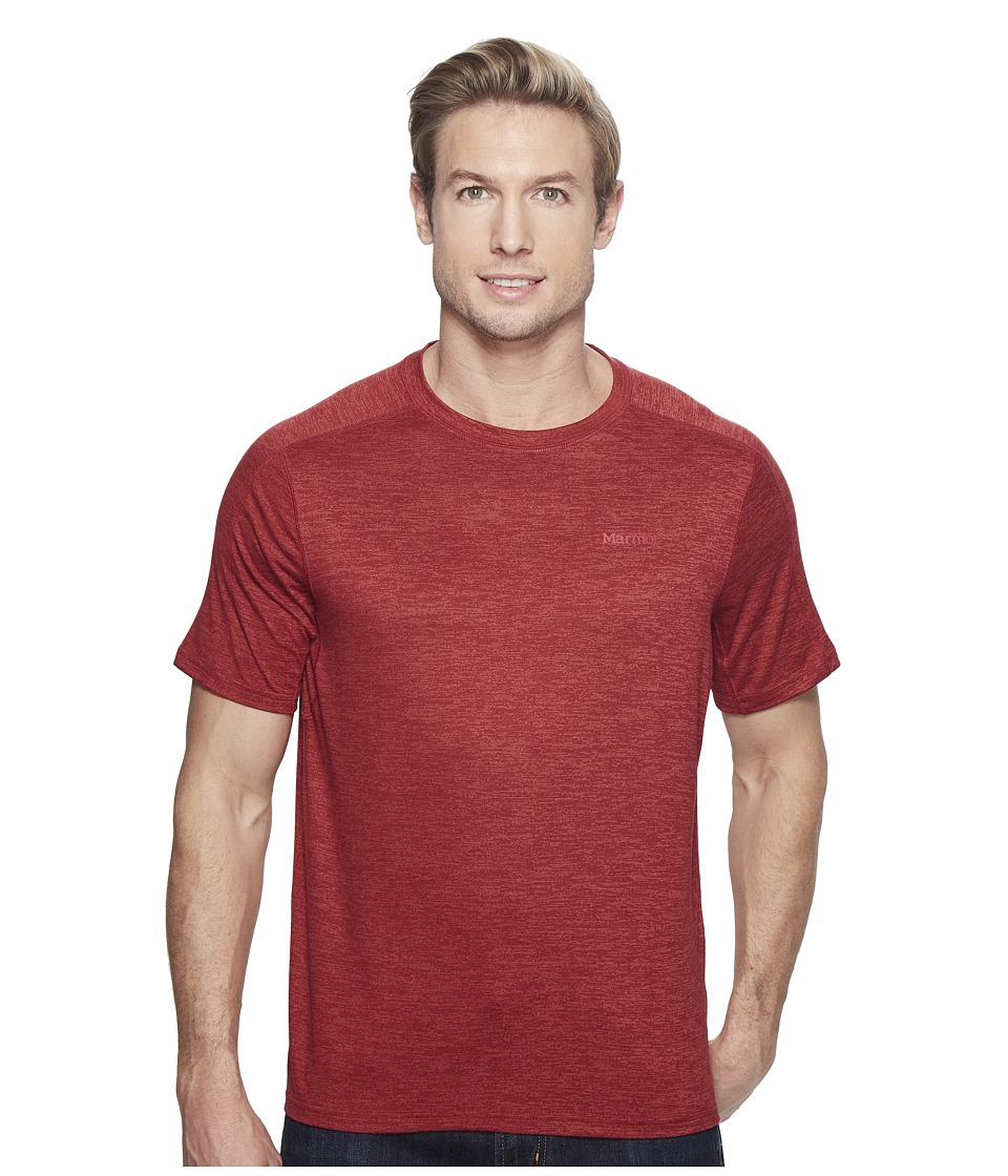 Marmot - Ridgeline Short Sleeve (Retro Red Heather) Men's T Shirt