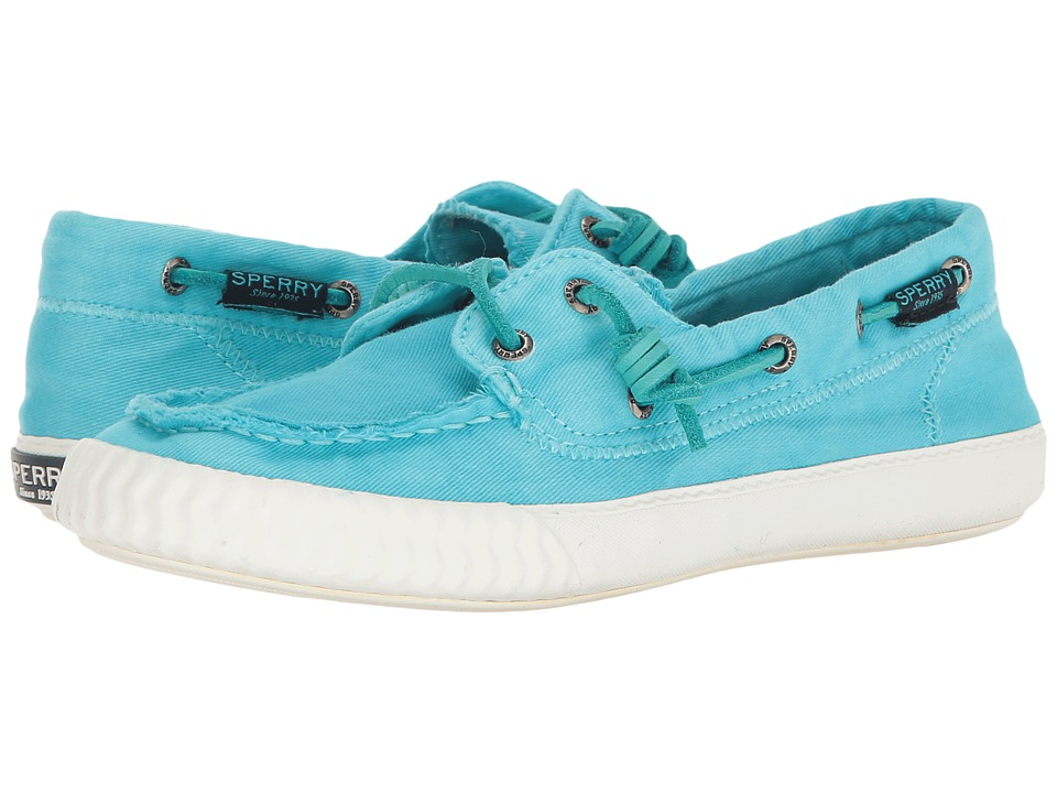 Sperry - Sayel Away Washed Canvas (Blue Water) Women's Lace up casual Shoes