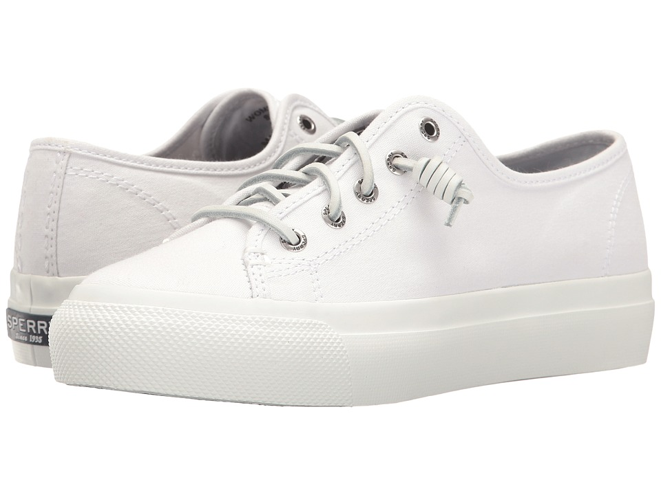 Sperry - Sky Sail Canvas (White) Women's Lace up casual Shoes