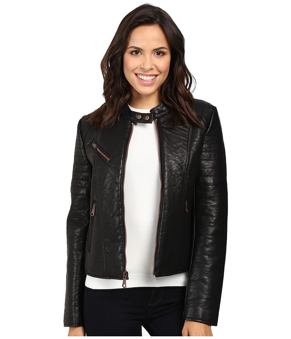 Marc New York by Andrew Marc - Vivian 20 Vintage Vegan Leather Jacket (Black) Women's Jacket