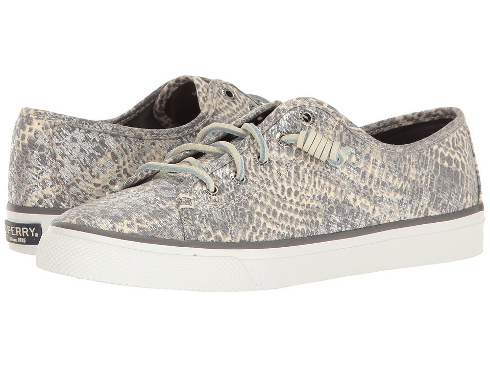 Sperry - Seacoast Python (Grey/Silver) Women's Lace up casual Shoes