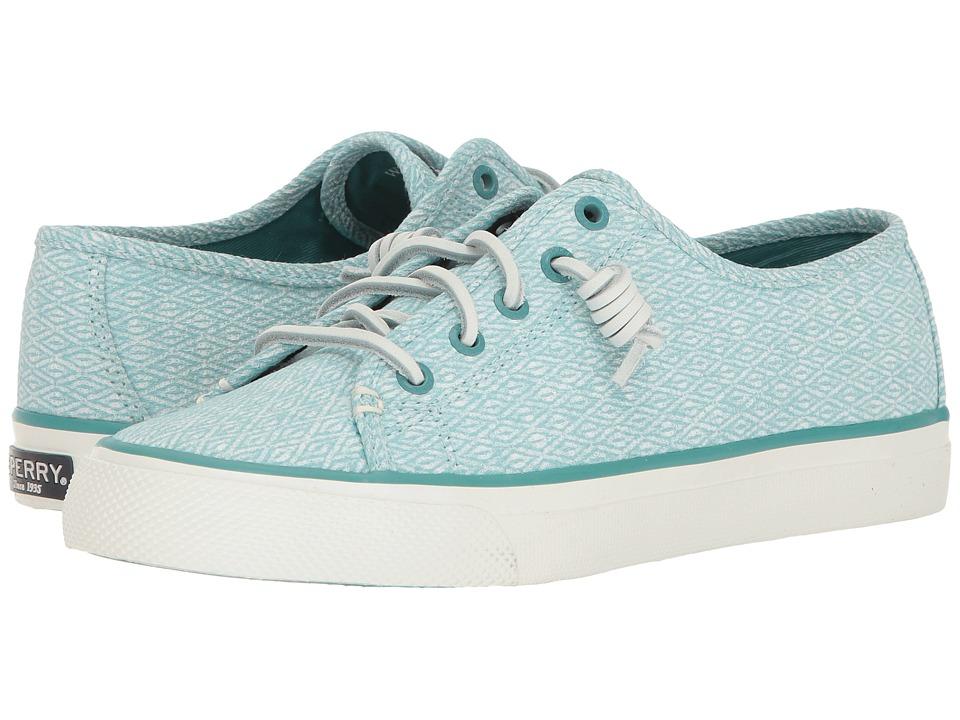 Sperry - Seacoast Diamond Print (Aqua) Women's Lace up casual Shoes