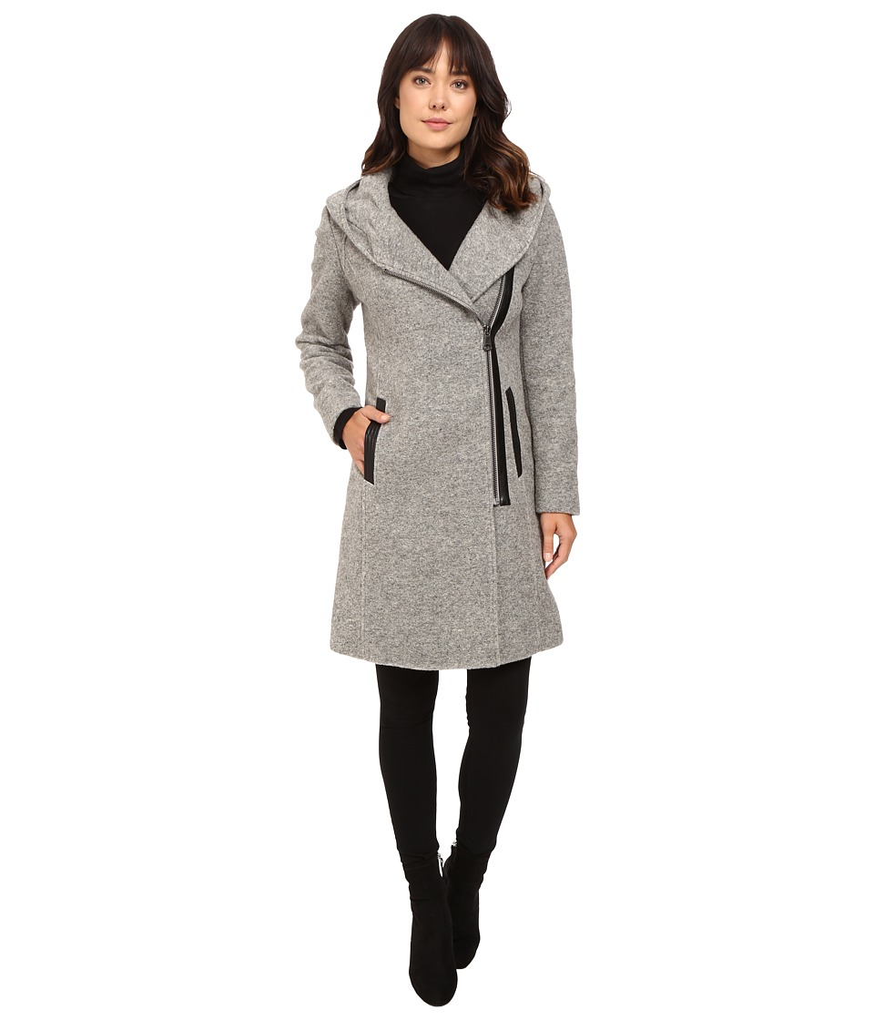 Marc New York by Andrew Marc - Fara Felted Wool Coat (Light Grey) Women's Coat