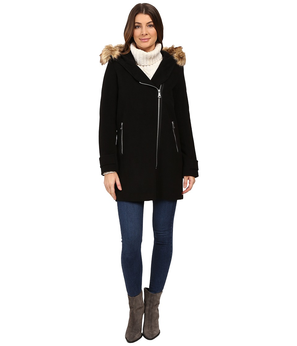 Marc New York by Andrew Marc - Paloma Asymmetrical Zip Coat (Black) Women's Coat