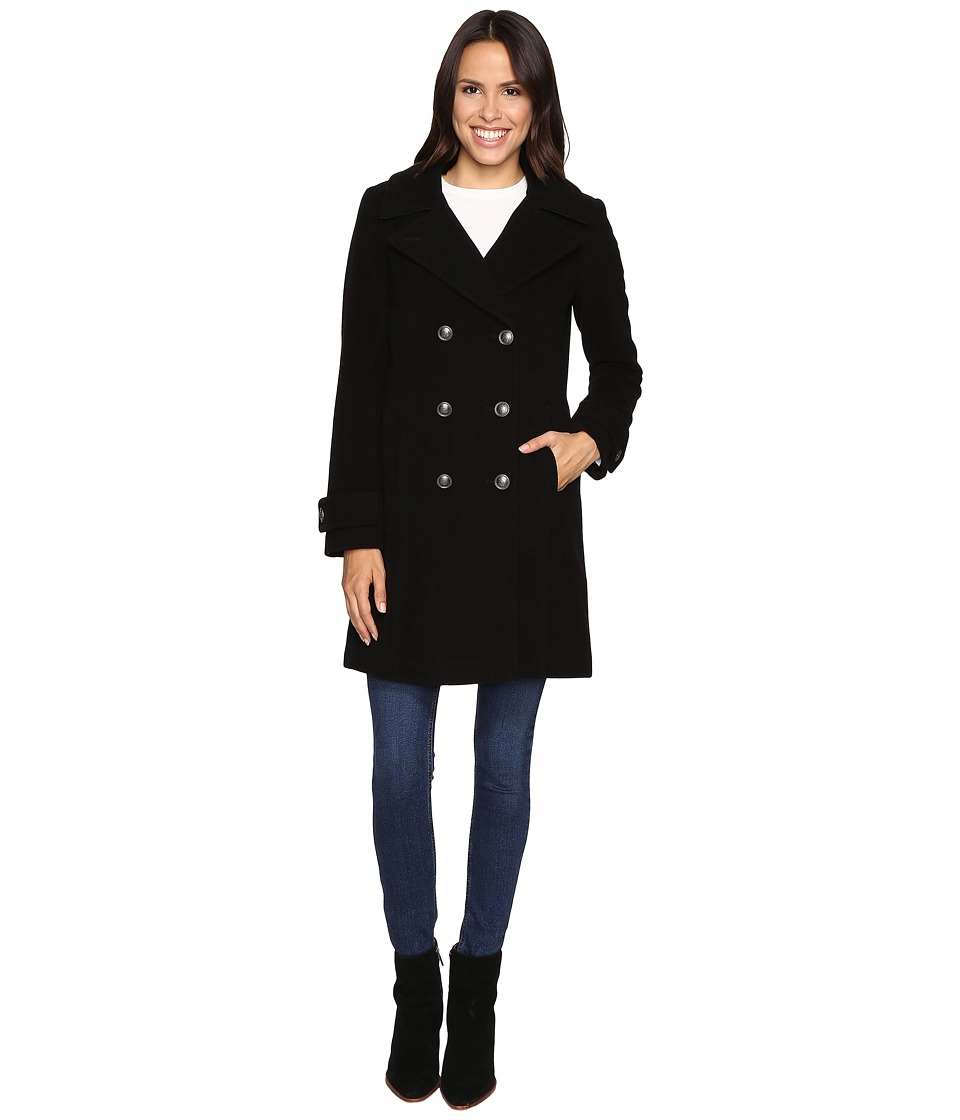 Marc New York by Andrew Marc - Pandora 35 Wool Plush Peacoat (Black) Women's Coat
