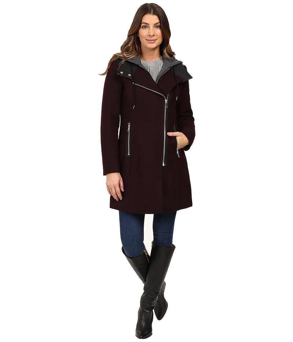 Marc New York by Andrew Marc - Phoenix 34 Pressed Wool Coat (Burgundy) Women's Coat