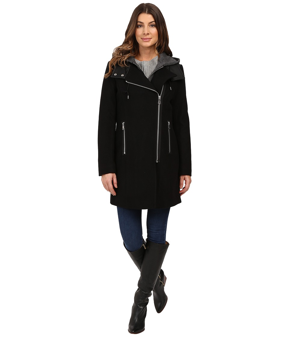 Marc New York by Andrew Marc - Phoenix 34 Pressed Wool Coat (Black) Women's Coat