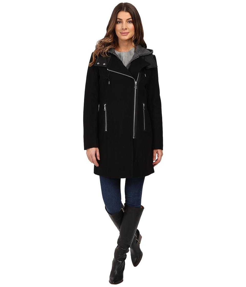 Marc New York by Andrew Marc - Phoenix 34 Pressed Wool Coat (Black) Women's Coat