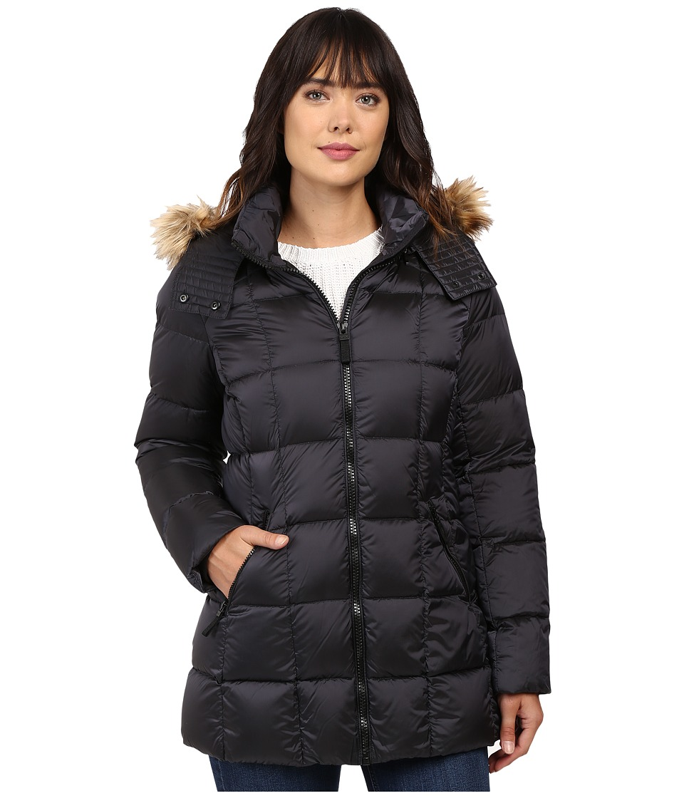 Marc New York by Andrew Marc - Maddy 30 Metallic Down Jacket (Gunmetal) Women's Coat