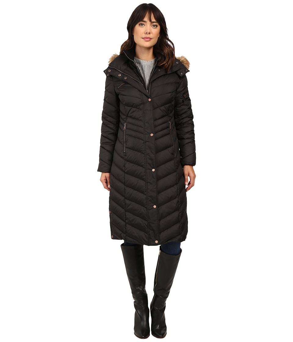 Marc New York by Andrew Marc - Rachael 42 Chevron Down Maxi Coat (Black) Women's Coat