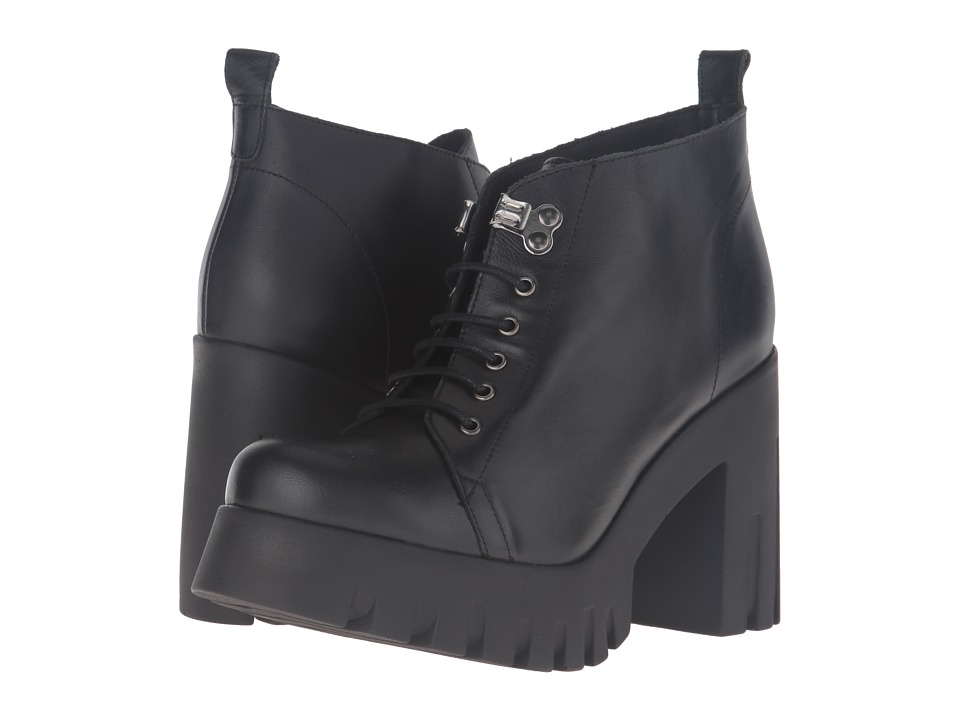 Shellys London - Kole (Black) Women's Lace-up Boots