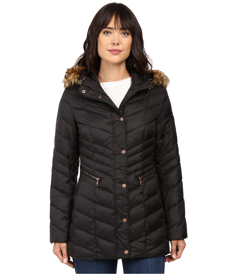 Marc New York by Andrew Marc - Renee Chevron Down Coat (Black) Women's Coat