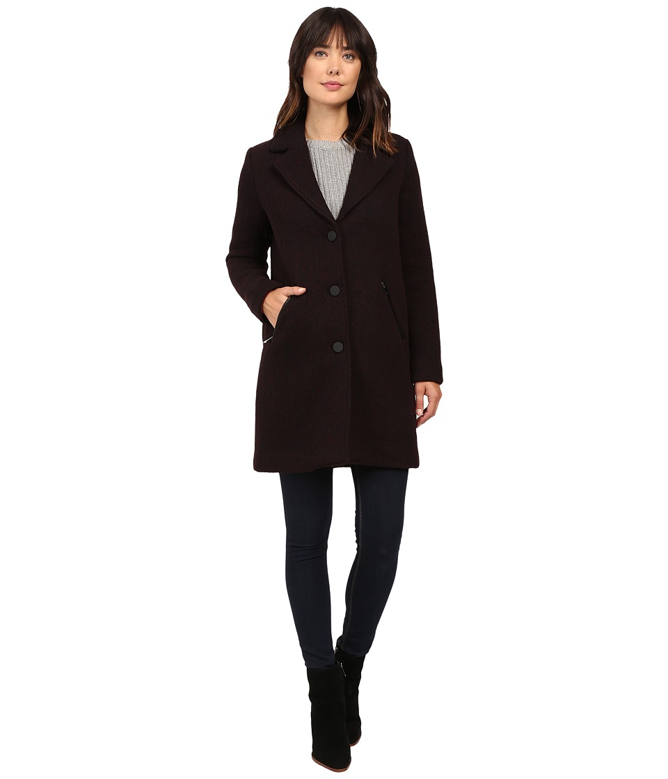 Marc New York by Andrew Marc - Tara 35 Pressed Twill Coat (Chianti/Black) Women's Coat