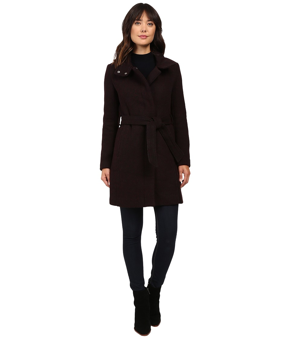 Marc New York by Andrew Marc - Tristina 35 Brushed Twill Trench Coat (Chianti/Black) Women's Coat