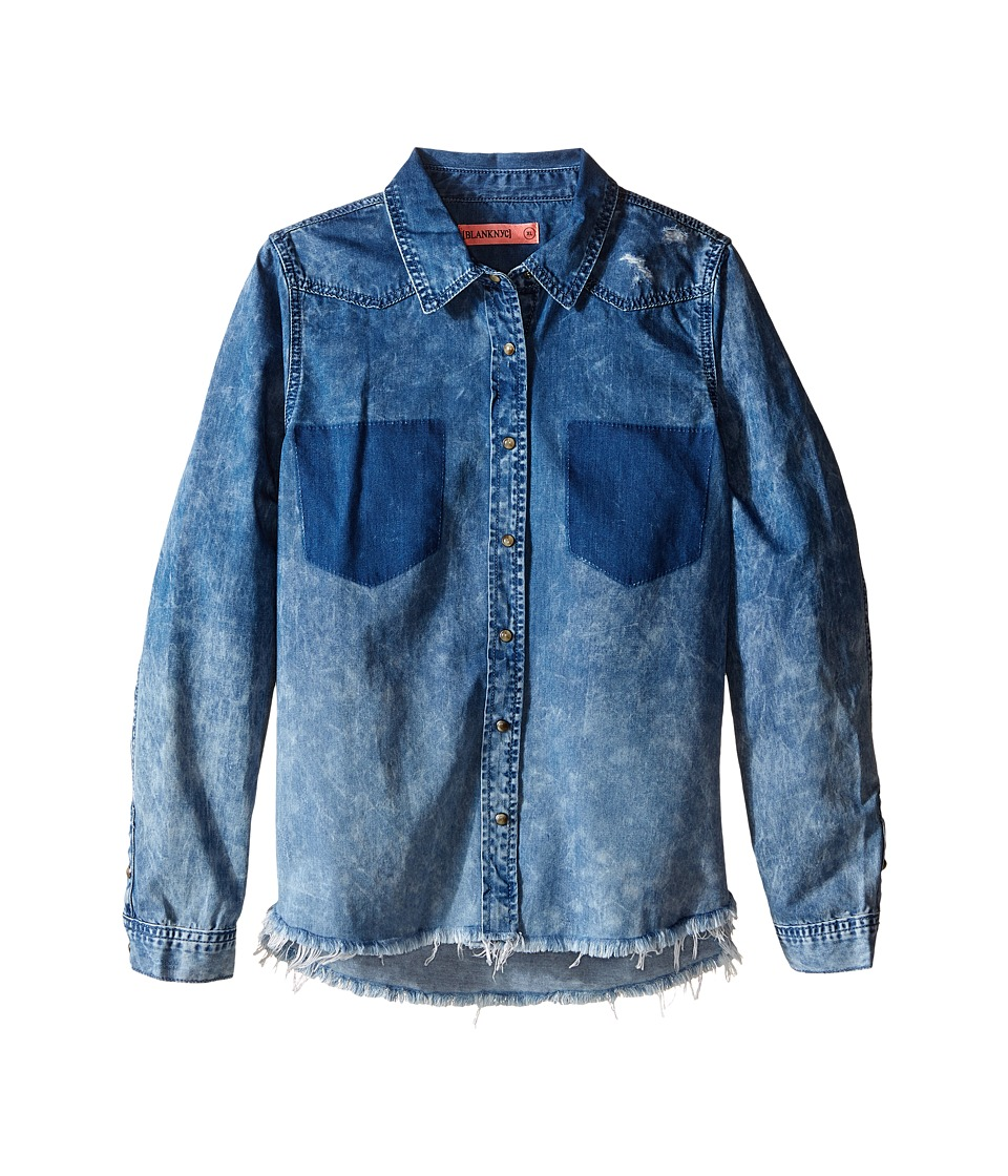 Blank NYC Kids - Denim Shirt in Float On (Big Kids) (Blue) Girl's Clothing