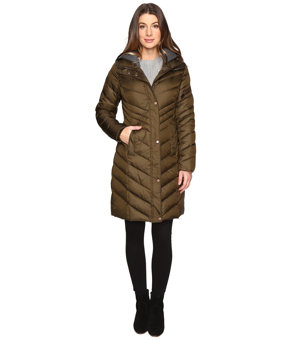 Marc New York by Andrew Marc - Rayna 37 Chevron Down Jacket (Dark Olive) Women's Coat