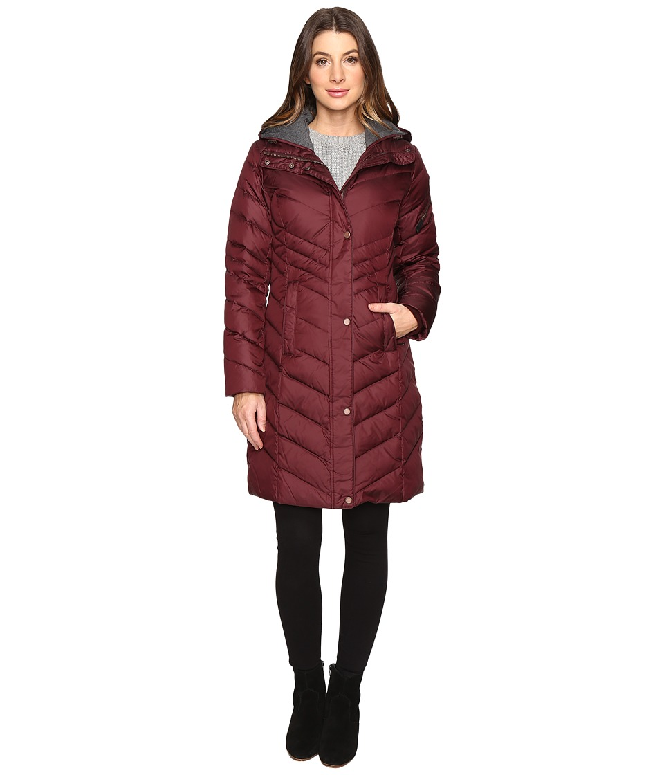 Marc New York by Andrew Marc - Rayna 37 Chevron Down Jacket (Burgundy) Women's Coat