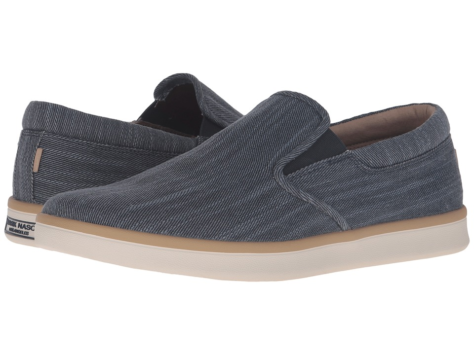 Mark Nason Bluefield (Navy Canvas/Tan Welt/White Sand Bottom) Men