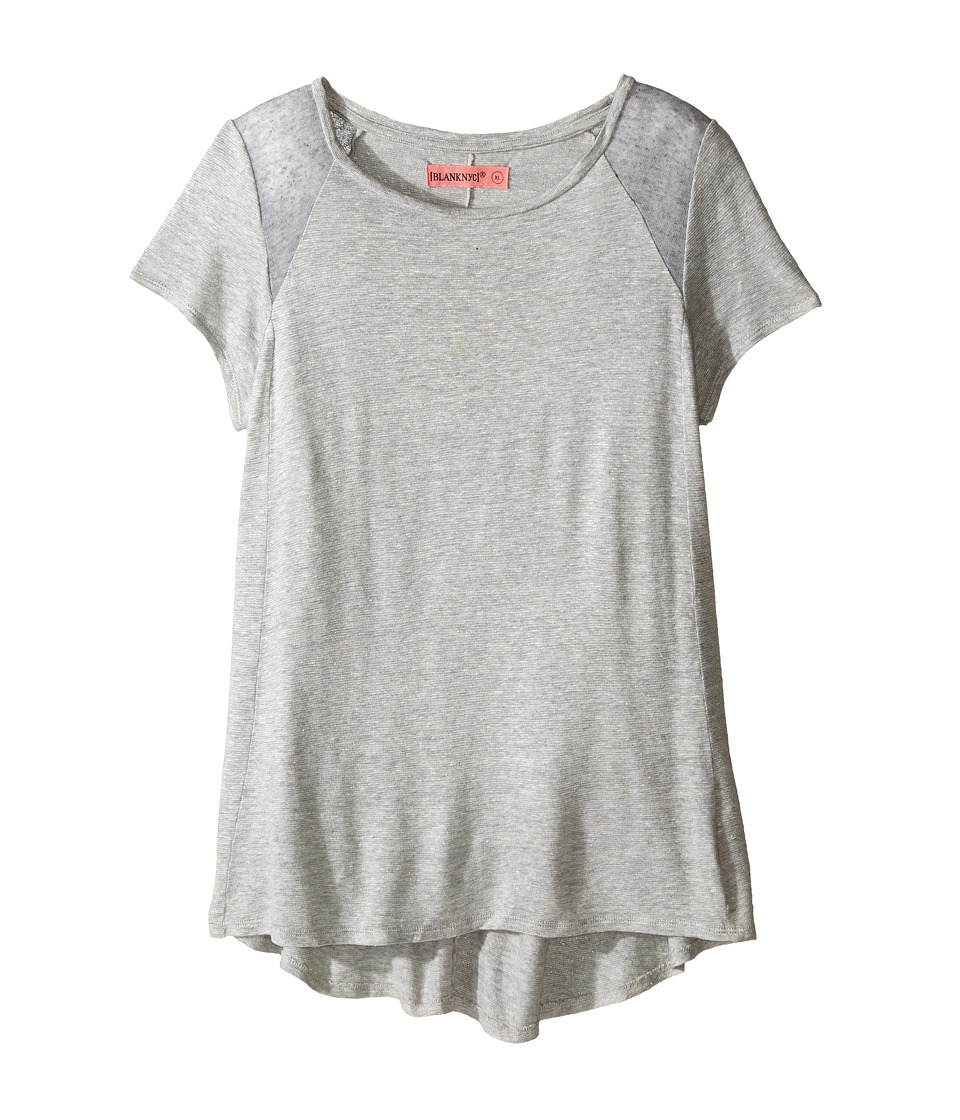 Blank NYC Kids - T-Shirt in Renegade Grey (Big Kids) (Grey) Girl's T Shirt