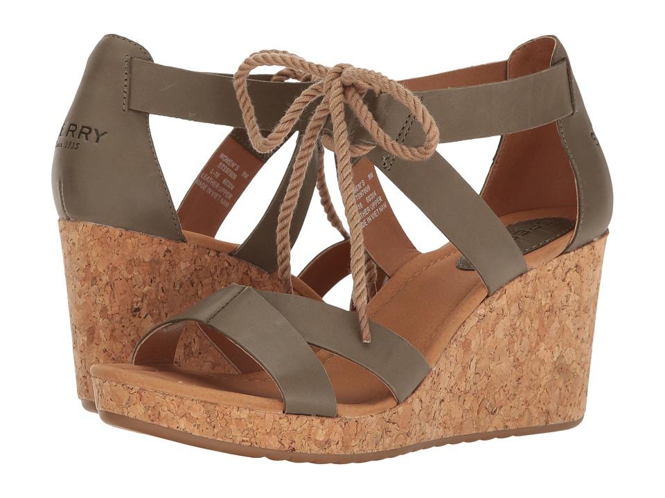 Sperry - Dawn Ari (Olive) Women's Clog/Mule Shoes