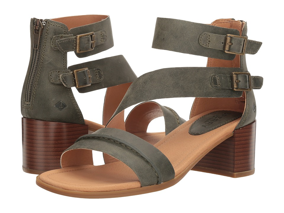 Sperry - Adelia York (Olive) Women's Clog/Mule Shoes