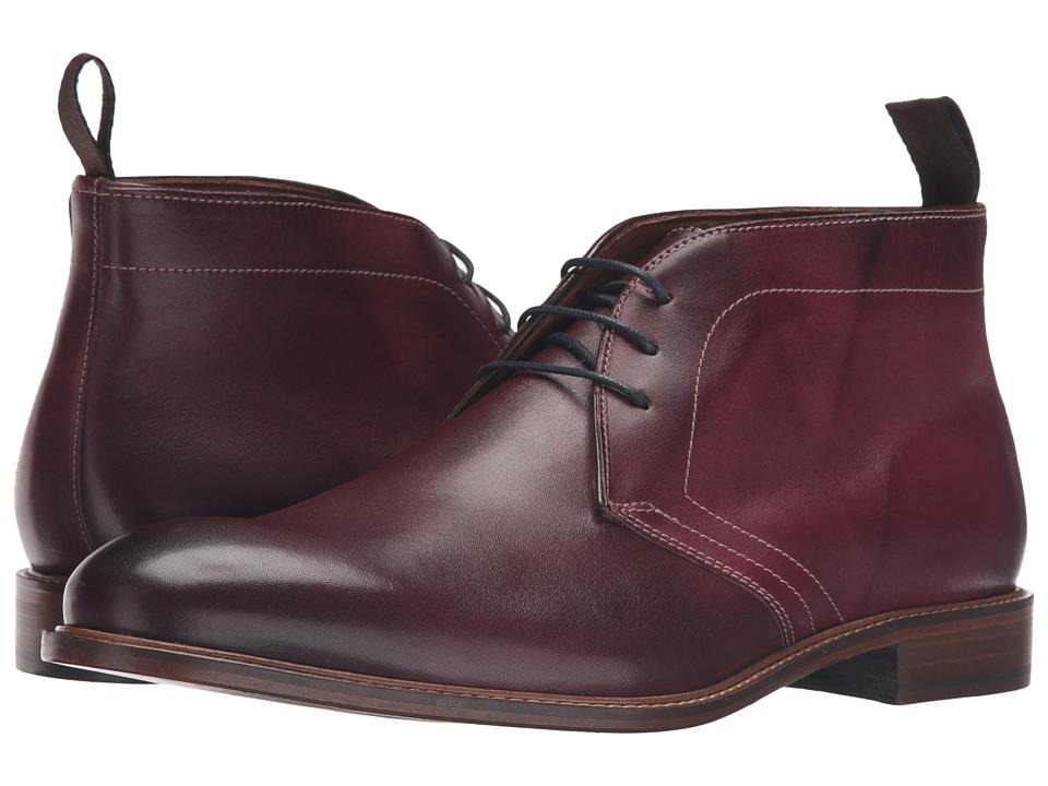 Massimo Matteo - 3-Eye Chukka (Bordo) Men's Lace-up Boots