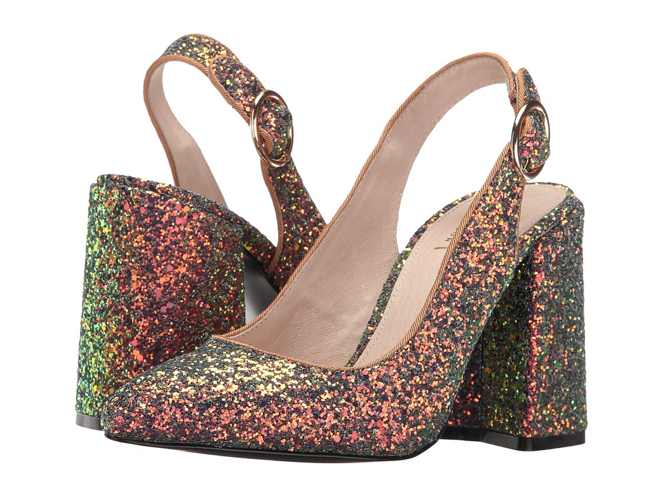 Shellys London Chester (Peacock Glitter) High Heels