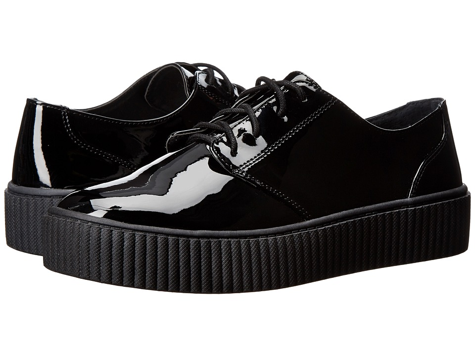 Shellys London - Peter (Black Patent) Women's Lace up casual Shoes