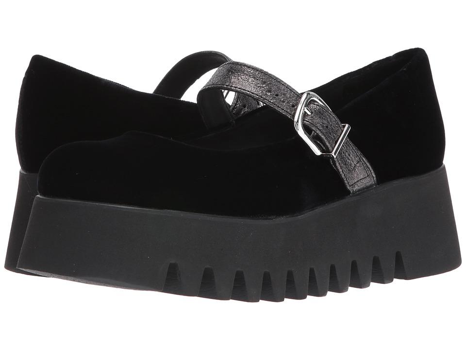 Shellys London - Killian (Black Velvet) Women's Shoes