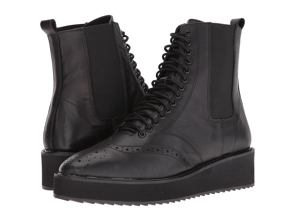 Shellys London - Lily (Black) Women's Lace-up Boots