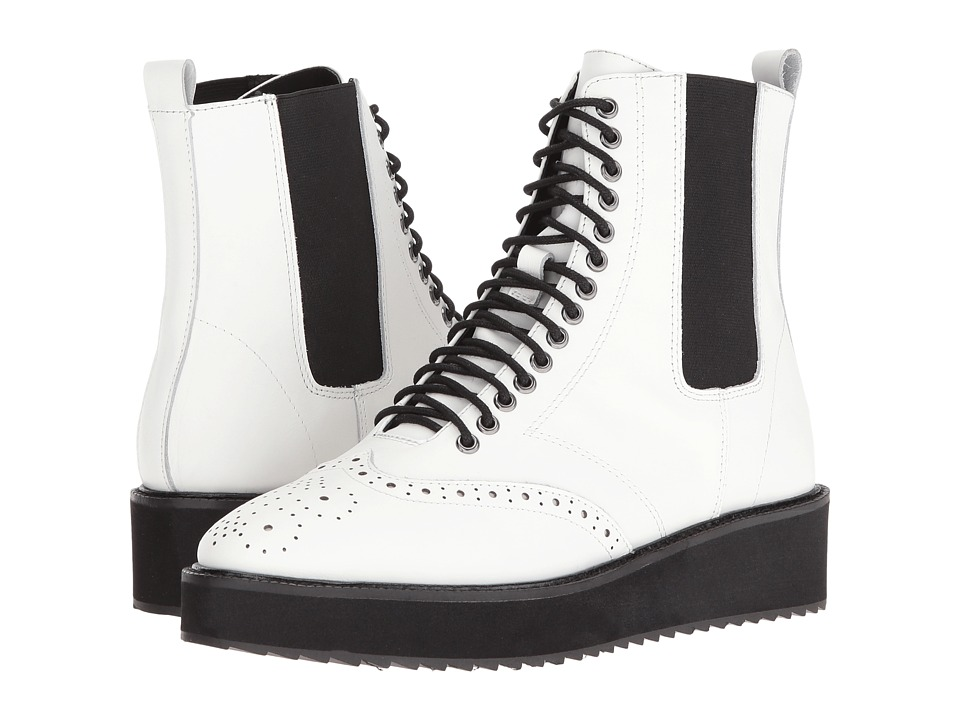 Shellys London - Lily (White) Women's Lace-up Boots