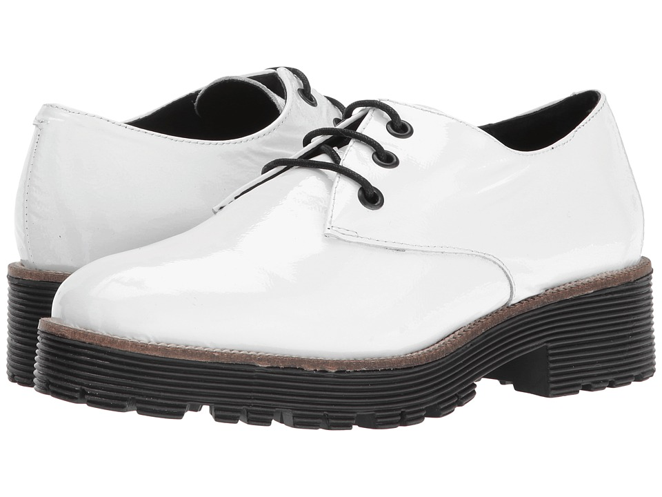 Shellys London - Terrwyn Oxford (White) Women's Lace up casual Shoes