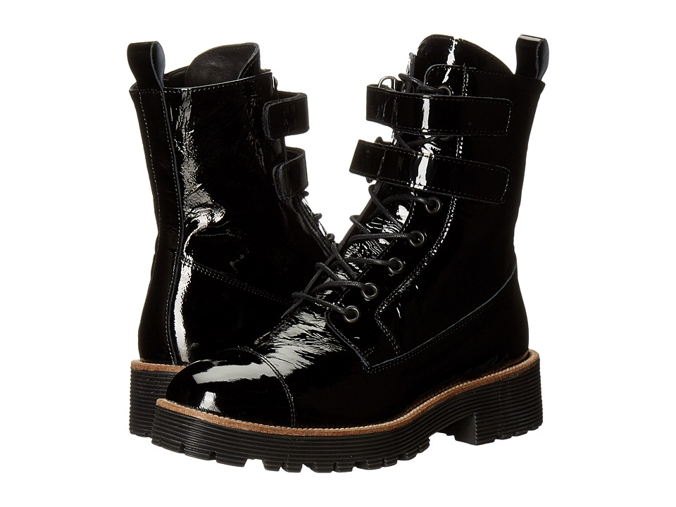 Shellys London - Tyra (Black Patent) Women's Lace-up Boots