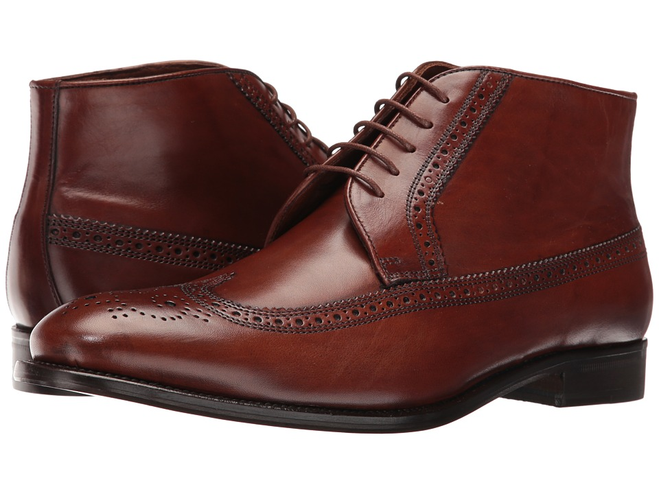 Massimo Matteo - 5-Eye Chukka Wing (Castagna) Men's Lace-up Boots