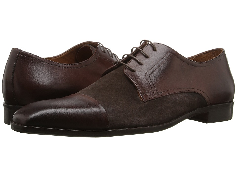 Massimo Matteo - Leather/Suede 4I Blucher (Brown) Men's Shoes