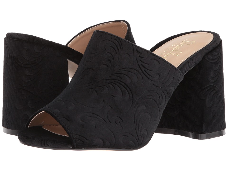 Shellys London Dalia (Black Velvet) High Heels