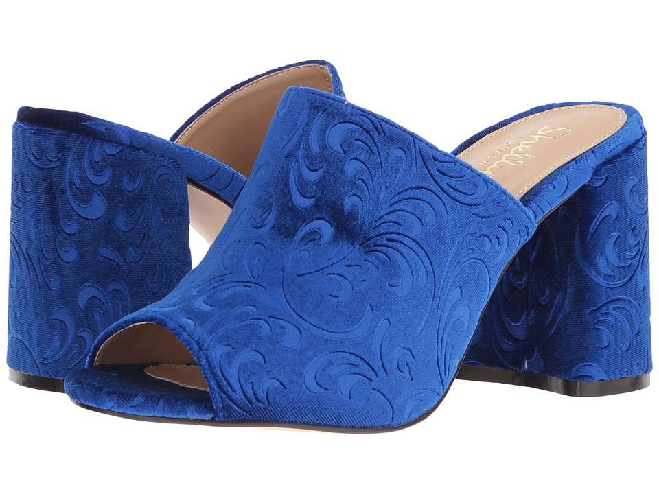 Shellys London Dalia (Blue Velvet) High Heels