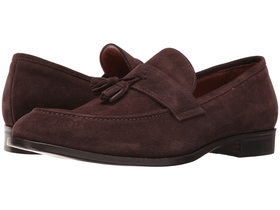 Massimo Matteo - Suede Moccasin Tassel (Brown Suede) Men's Shoes
