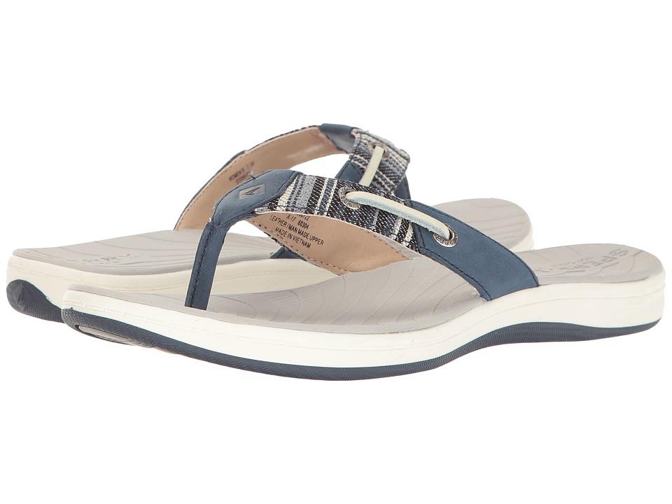 Sperry - Seabrook Surf Prints (Navy/Multi Denim Stripe) Women's Sandals