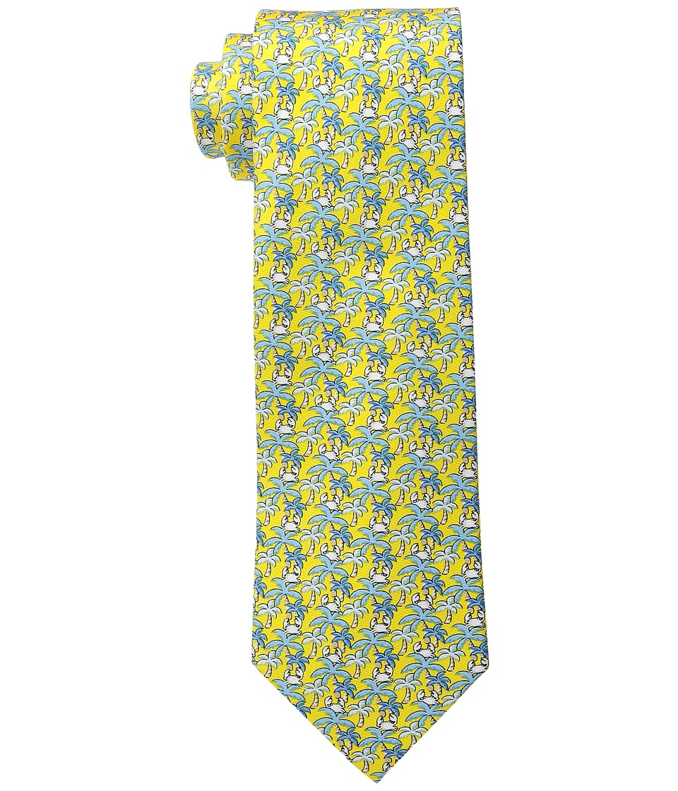Tommy Hilfiger - Palm Tree and Crabs Print (Yellow) Ties