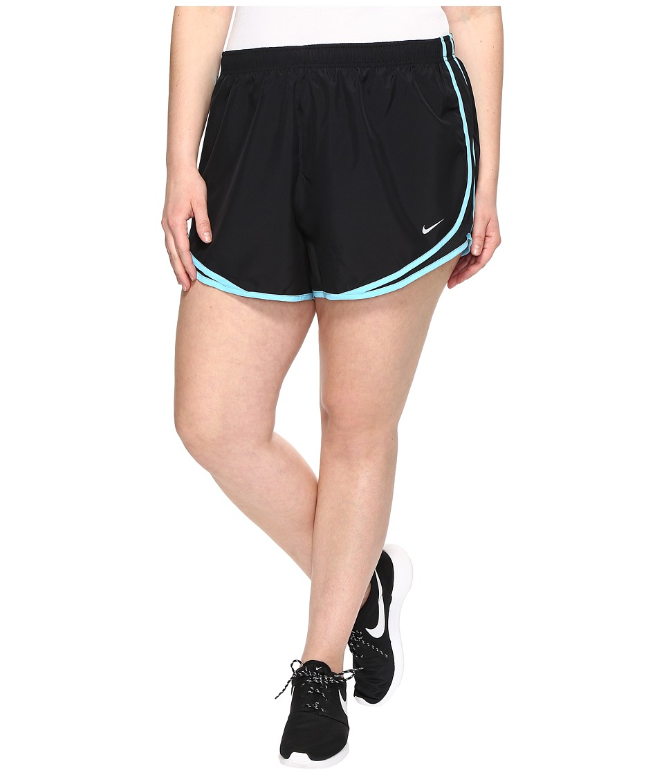 Nike - Dry Tempo 3 Running Short (Size 1X-3X) (Black/Black/Vivid Sky/Wolf Grey) Women's Shorts