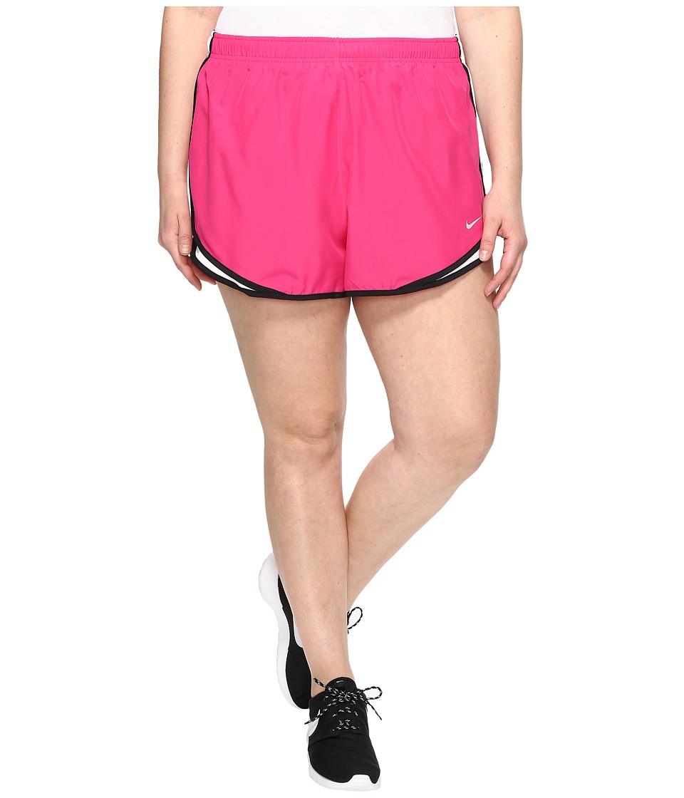 Nike - Dry Tempo 3 Running Short (Size 1X-3X) (Vivid Pink/White/Black/Wolf Grey) Women's Shorts
