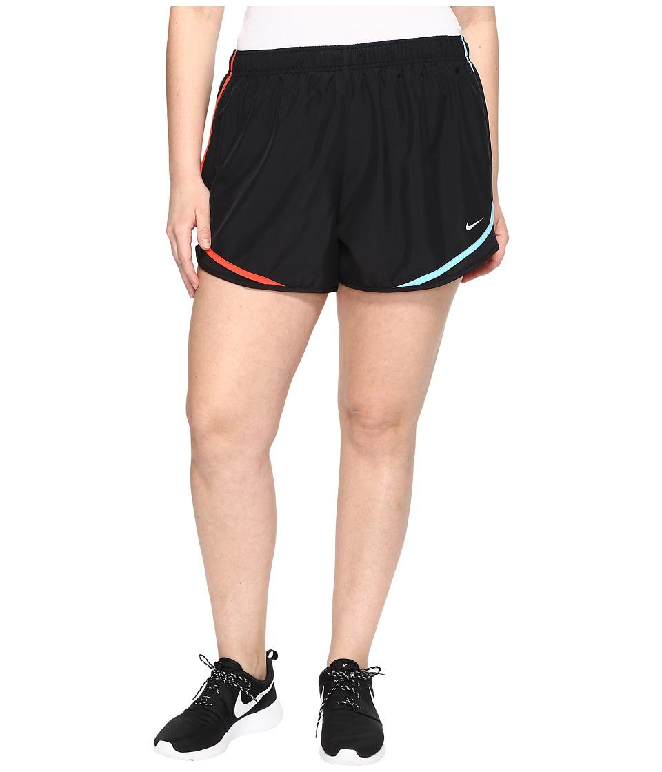 Nike Dry Tempo 3 Running Short (Size 1X-3X) (Black/Black/Paramount Blue/Wolf Grey) Women