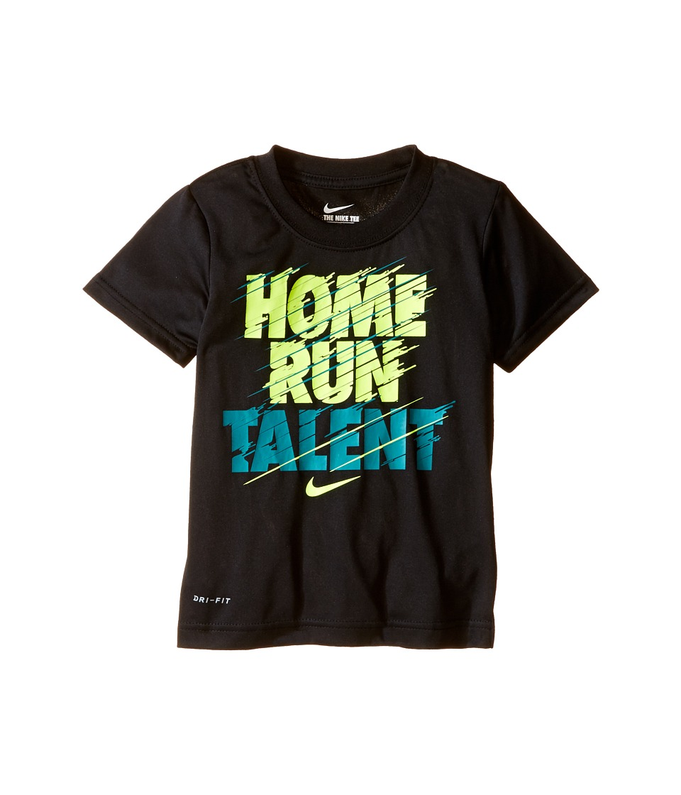 Nike Kids - Home Run Talent Dri-FIT Tee (Toddler) (Black) Boy's Clothing